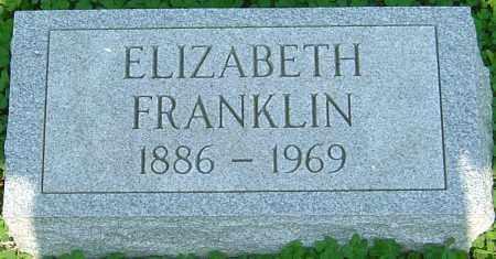 FRANKLIN, ELIZABETH - Franklin County, Ohio | ELIZABETH FRANKLIN - Ohio Gravestone Photos