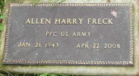 FRECK, ALLEN - Franklin County, Ohio | ALLEN FRECK - Ohio Gravestone Photos