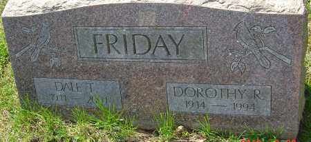 FRIDAY, DOROTHY R - Franklin County, Ohio | DOROTHY R FRIDAY - Ohio Gravestone Photos