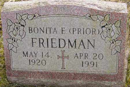 PRIOR FRIEDMAN, BONITA - Franklin County, Ohio | BONITA PRIOR FRIEDMAN - Ohio Gravestone Photos