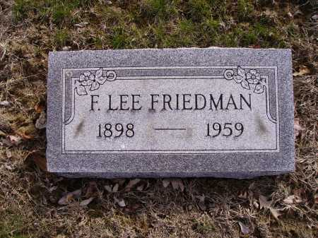 FRIEDMAN, F. LEE - Franklin County, Ohio | F. LEE FRIEDMAN - Ohio Gravestone Photos