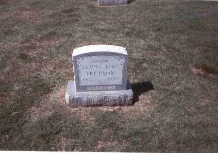 FRIEDMAN, GLADYS IRENE - Franklin County, Ohio | GLADYS IRENE FRIEDMAN - Ohio Gravestone Photos