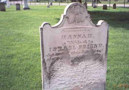 FRIEND, HANNAH - Franklin County, Ohio | HANNAH FRIEND - Ohio Gravestone Photos