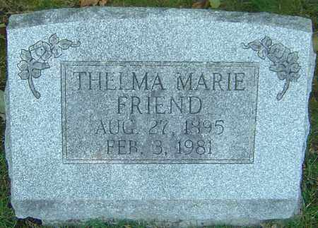 FRIEND, THELMA MARIE - Franklin County, Ohio | THELMA MARIE FRIEND - Ohio Gravestone Photos