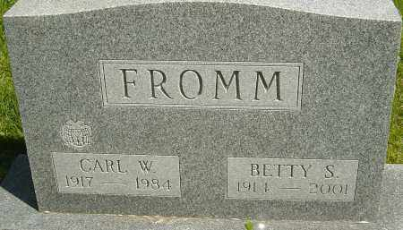FROMM, BETTY S - Franklin County, Ohio | BETTY S FROMM - Ohio Gravestone Photos