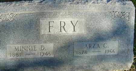 FRY, ARZA C - Franklin County, Ohio | ARZA C FRY - Ohio Gravestone Photos