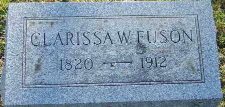 FUSON, CLARISSA W - Franklin County, Ohio | CLARISSA W FUSON - Ohio Gravestone Photos