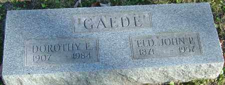 GAEDE, JOHN P - Franklin County, Ohio | JOHN P GAEDE - Ohio Gravestone Photos