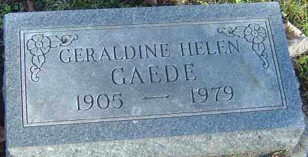 GAEDE, GERALDINE HELEN - Franklin County, Ohio | GERALDINE HELEN GAEDE - Ohio Gravestone Photos