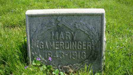 GAMERDINGER, MARY - Franklin County, Ohio | MARY GAMERDINGER - Ohio Gravestone Photos