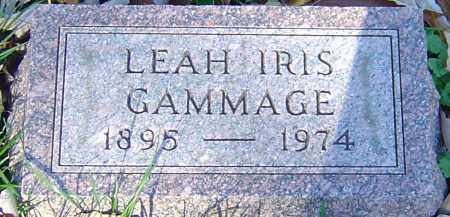 COULSON GAMMAGE, LEAH IRIS - Franklin County, Ohio | LEAH IRIS COULSON GAMMAGE - Ohio Gravestone Photos