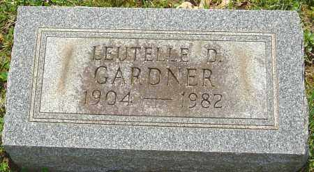 GARDNER, LEUTELLE D - Franklin County, Ohio | LEUTELLE D GARDNER - Ohio Gravestone Photos