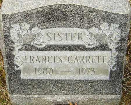 GARRETT, FRANCES - Franklin County, Ohio | FRANCES GARRETT - Ohio Gravestone Photos