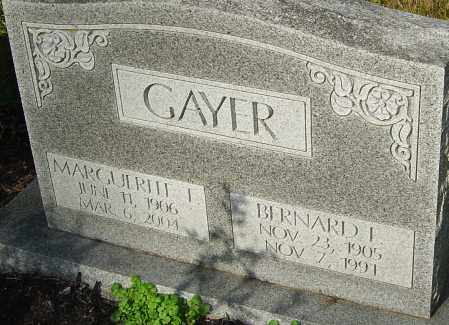 GAYER, BERNARD - Franklin County, Ohio | BERNARD GAYER - Ohio Gravestone Photos