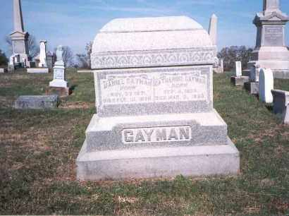 GAYMAN, DANIEL - Franklin County, Ohio | DANIEL GAYMAN - Ohio Gravestone Photos
