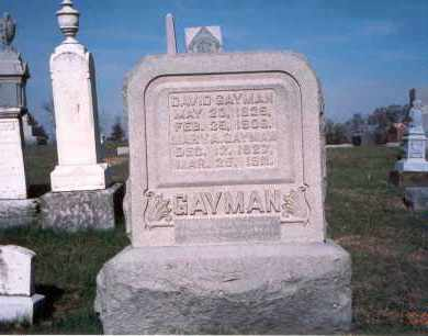 GAYMAN, DAVID - Franklin County, Ohio | DAVID GAYMAN - Ohio Gravestone Photos