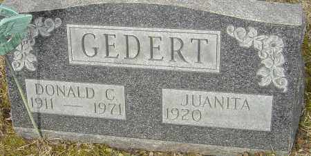 GEDERT, DONALD C - Franklin County, Ohio | DONALD C GEDERT - Ohio Gravestone Photos