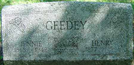 GEEDEY, JENNIE A - Franklin County, Ohio | JENNIE A GEEDEY - Ohio Gravestone Photos