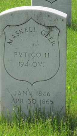 GEER, MASKELL - Franklin County, Ohio | MASKELL GEER - Ohio Gravestone Photos