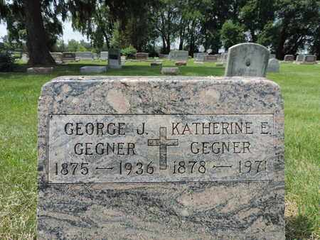 GEGNER, KATHERINE E. - Franklin County, Ohio | KATHERINE E. GEGNER - Ohio Gravestone Photos