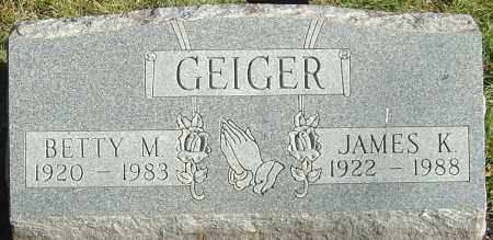GEIGER, JAMES K - Franklin County, Ohio | JAMES K GEIGER - Ohio Gravestone Photos