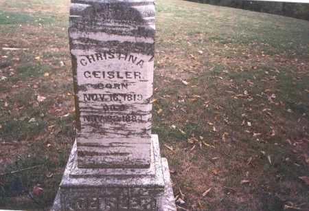 GEISLER, CHRISTINA - Franklin County, Ohio | CHRISTINA GEISLER - Ohio Gravestone Photos