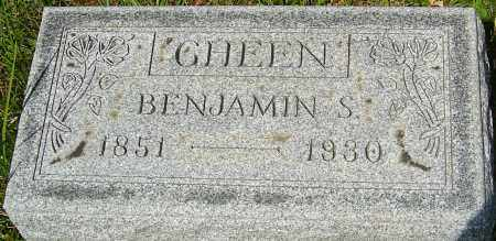 GHEEN, BENJAMIN S - Franklin County, Ohio | BENJAMIN S GHEEN - Ohio Gravestone Photos