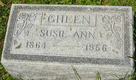 GHEEN, SUSIE ANN - Franklin County, Ohio | SUSIE ANN GHEEN - Ohio Gravestone Photos