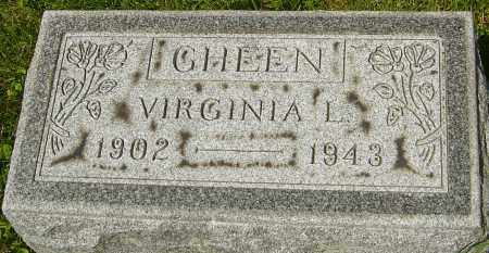 GHEEN, VIRGINIA L - Franklin County, Ohio | VIRGINIA L GHEEN - Ohio Gravestone Photos