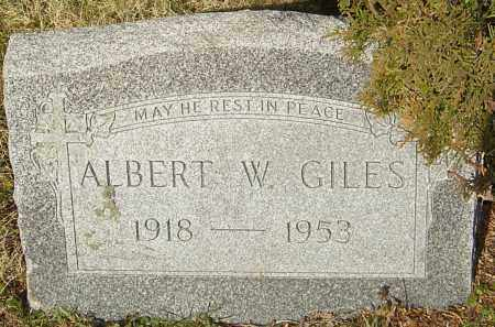 GILES, ALBERT W - Franklin County, Ohio | ALBERT W GILES - Ohio Gravestone Photos