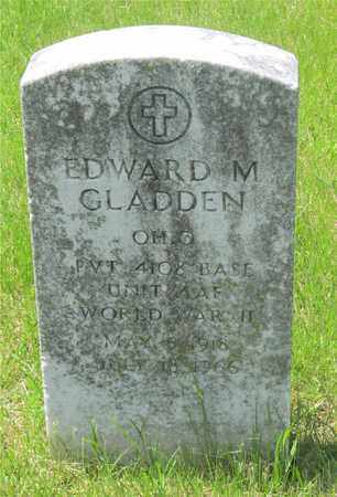 GLADDEN, EDWARD M. - Franklin County, Ohio | EDWARD M. GLADDEN - Ohio Gravestone Photos