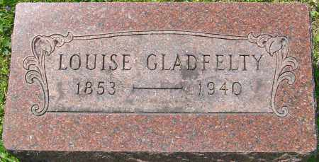 GLADFELTY, LOUISE - Franklin County, Ohio | LOUISE GLADFELTY - Ohio Gravestone Photos