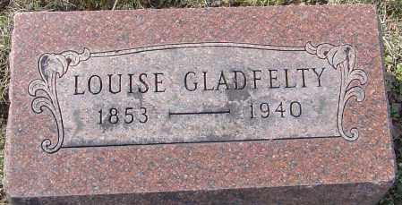 GLADFELTY, LOUISE - Franklin County, Ohio | LOUISE GLADFELTY - Ohio Gravestone Photos