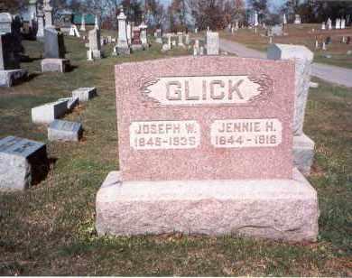 GLICK, JENNIE H. - Franklin County, Ohio | JENNIE H. GLICK - Ohio Gravestone Photos