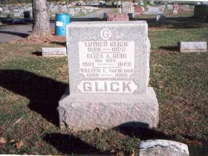 GLICK, LUTHER - Franklin County, Ohio | LUTHER GLICK - Ohio Gravestone Photos