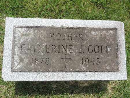 GOFF, CATHERINE J. - Franklin County, Ohio | CATHERINE J. GOFF - Ohio Gravestone Photos