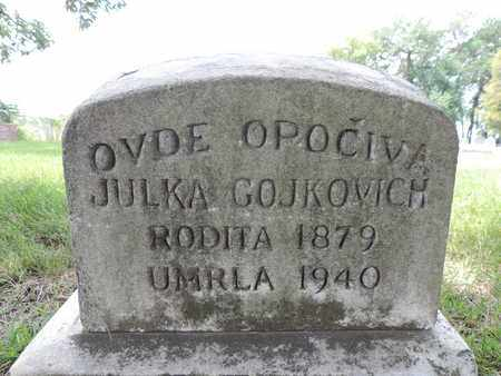 GOJKOVICH, JULKA - Franklin County, Ohio | JULKA GOJKOVICH - Ohio Gravestone Photos