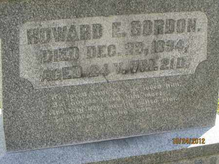 GORDON, HOWARD EDWARD - Franklin County, Ohio | HOWARD EDWARD GORDON - Ohio Gravestone Photos