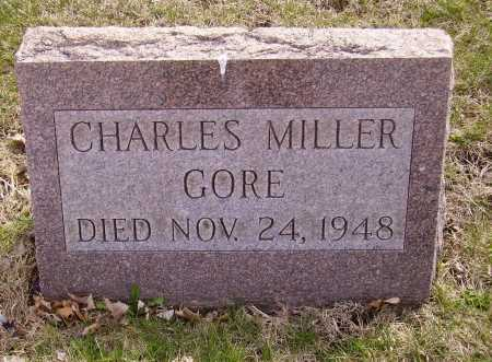 GORE, CHARLES MILLER - Franklin County, Ohio | CHARLES MILLER GORE - Ohio Gravestone Photos
