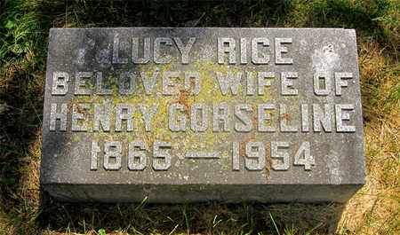 GORSELINE, LUCY - Franklin County, Ohio | LUCY GORSELINE - Ohio Gravestone Photos