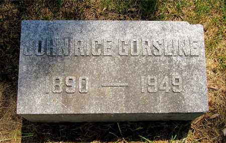GORSLINE, JOHN RICE - Franklin County, Ohio | JOHN RICE GORSLINE - Ohio Gravestone Photos
