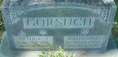 GORSUCH, ARTHUR J - Franklin County, Ohio | ARTHUR J GORSUCH - Ohio Gravestone Photos