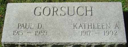 GORSUCH, KATHLEEN A - Franklin County, Ohio | KATHLEEN A GORSUCH - Ohio Gravestone Photos