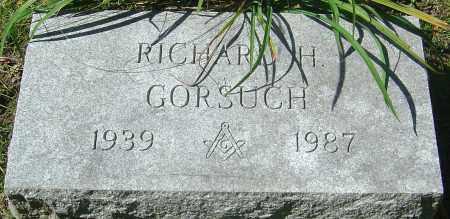 GORSUCH, RICHARD H - Franklin County, Ohio | RICHARD H GORSUCH - Ohio Gravestone Photos