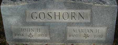 GOSHORN, JOHN H - Franklin County, Ohio | JOHN H GOSHORN - Ohio Gravestone Photos