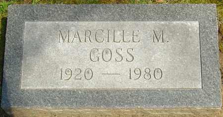 GOSS, MARCILLE M - Franklin County, Ohio | MARCILLE M GOSS - Ohio Gravestone Photos