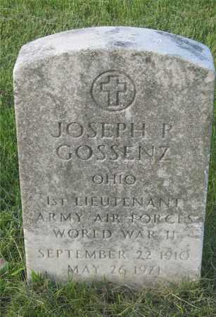 GOSSENZ, JOSEPH R. - Franklin County, Ohio | JOSEPH R. GOSSENZ - Ohio Gravestone Photos