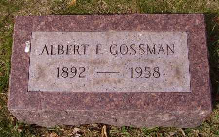 GOSSMAN, ALBERT F. - Franklin County, Ohio | ALBERT F. GOSSMAN - Ohio Gravestone Photos