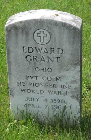 GRANT, EDWARD - Franklin County, Ohio | EDWARD GRANT - Ohio Gravestone Photos