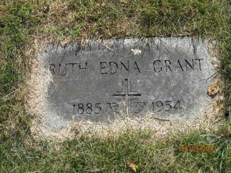 GRANT, RUTH EDNA - Franklin County, Ohio | RUTH EDNA GRANT - Ohio Gravestone Photos